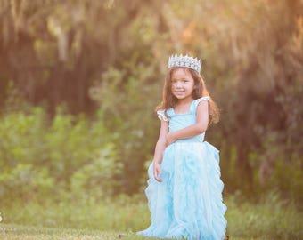 Cinderella Dress, Cinderella Costume, Blue Flower Girl Dress, Princess Dress, Girls Tulle Dress, Blue Tulle Dress