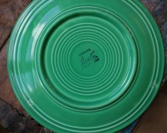 OLD vintage genuine Fiestaware, Vintage Fiesta ware Plate, green Fiesta Plate / green fiesta ware / Fiesta ware 1936-1969, green fiesta