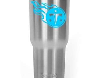 Tennessee Titans Decal Sticker For Yeti RTIC Ozark Trail Rambler Tumbler Coldster Cooler