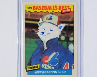 JEFF REARDON 1986 Hand Painted Vintage Altered Baseball Card