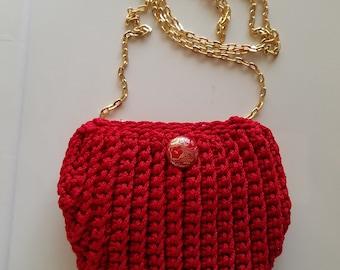 Crochet crossbody handbag