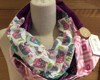 Scarf infinity patchwork camping