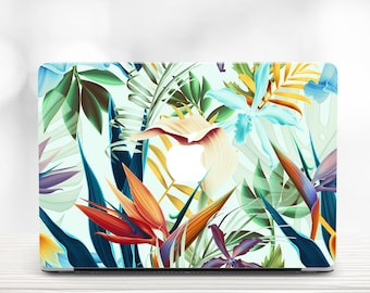 Tropical Leaves MacBook Air 13 Hard Case MacBook Air Case 13 Macbook Air Laptop Case Macbook Pro 15 Case Macbook 2016 Tropical Macbook Cover