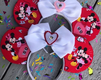 Valentine's Day inspired mouse ears