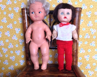 DAMAGED Set of Two Dolls