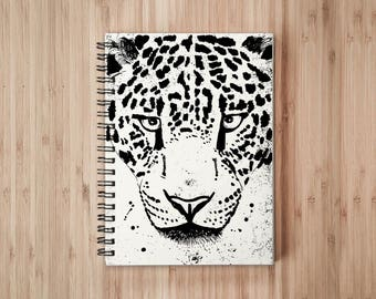 Leopard Notebook/Sketchbook Wire Bound - Blank pages