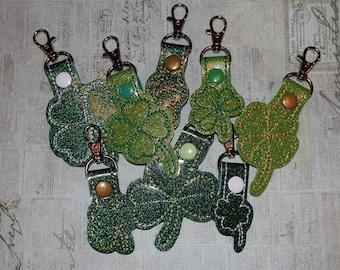 Shamrock- Lucky Clover- Four Leaf Clover- St. Patrick's Day Keychain