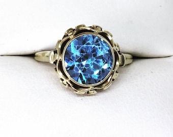 Vintage 14ct Gold Topaz Ring