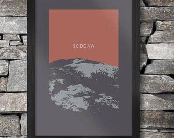 Skiddaw Poster Print - The Lake District