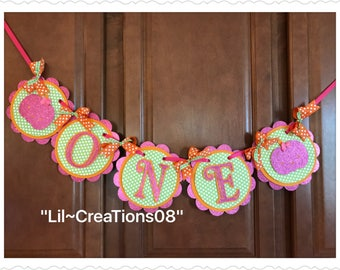 One Little Pumpkin Banner