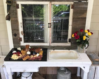 Chic Rustic Garden Potting Table
