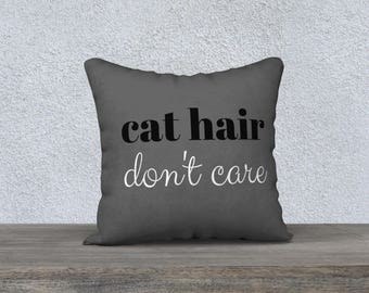 Funny Cat Lady Accent Pillow, Free Shipping, Made in Canada by KarenMakes