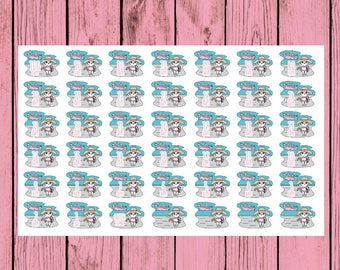 Mauly Cruise Countdown - Hand Drawn IttyBitty Kitty Collection - Planner Stickers