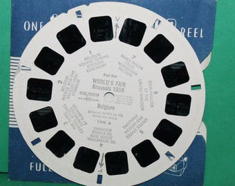 Vintage Sawyers Viewmaster Reel World's Fair Brussels 1958 Belgium 1990A