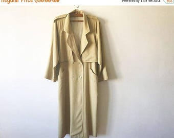 ON SALE Beige Womens Trenchcoat Light Brown Women's Trench Coat Classic Raincoat Double Breasted Trench Preppy Trenchcoat Beige Size Large O