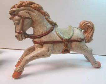 """Handmade Ceramic Hobby Horse marked Ph 8.5"""" wide 7"""" high Excellent Condition"""