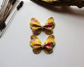 Butterfly bow || Set of 2 || Bow headband || Bow hair clips || hair accessories || baby gift || gift for a kids || cheer bow,