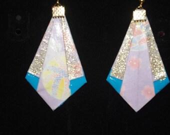 "Earrings ""Diamond point"" glitter gold"