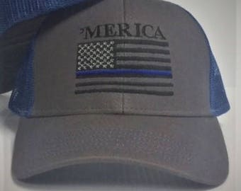 Royal Merica Cap with Blue Line