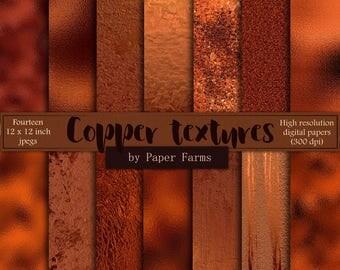 Copper foil, copper textures, digital paper, scrapbook paper, copper, digital, foil, effects, backgrounds, glitter, metallic, DOWNLOAD