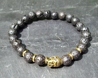 Mens bracelet - Chakra bracelet - Mala Bracelet - Man's bracelet - Mixed beads man's bracelet - Yoga bracelet - Gift for him - Lava Rock