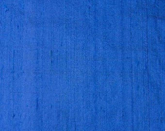 Free Shipping Blue Dupion Silk Fabric