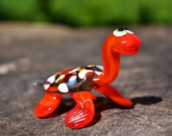 Collectible glass turtle figurine animals glass turtles sculpture art glass toy murano turtle blown red animals tiny big turtle animals gift