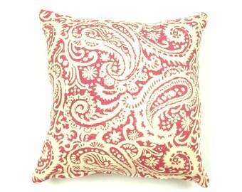 PILLOW COVERS | Hot Pink & Cream Pillow Cover | Linen | Home Decor | ALPHONSINA