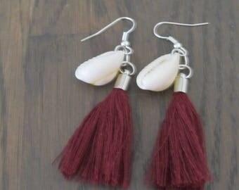 Earrings Tassel and shell