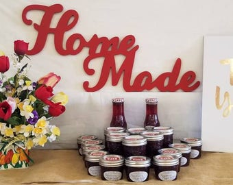 Home Made small batch jam and shrub RASPBERRY-MEYER LEMON