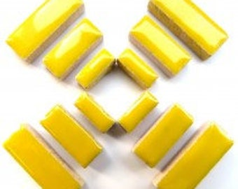 Ceramic Rectangle - Yellow - 50g / 1.75 oz(approx. 60 pieces)
