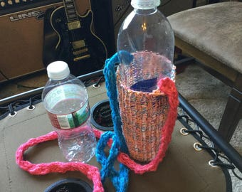 Cotton Candy water bottle carrier.