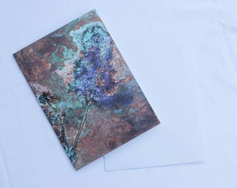Silverdale Summer III: Limited Edition Fine Art Card of Original Copper Painting by Jessica Elleray