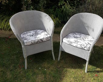Lusty Lloyd loom chairs - vintage Lloyd loom - CC41 utility furniture