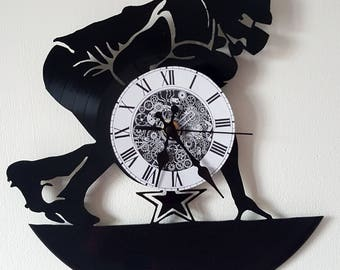 Vinyl 33 clock towers Football theme