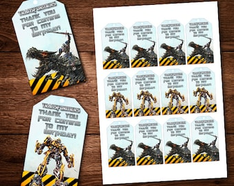 Transformers Thank you Cards, Bumble Bee, Optimus Prime, Thank you cards, For kids, Birthday