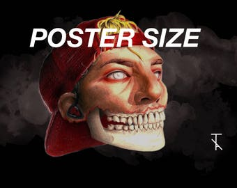 POSTER SIZE - only skeleton bones remain | PRINT