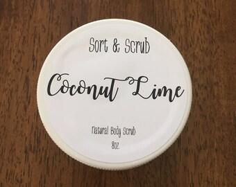 Coconut Lime body scrub - 8oz jar