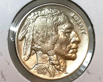 1927 P Buffalo Nickel - BU / MS / Unc