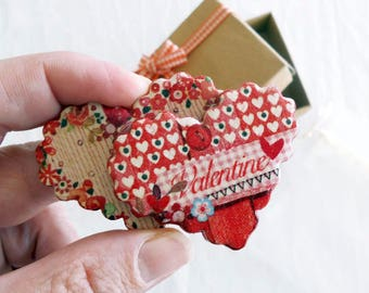 Valentines Day Party - Fridge Magnets - Heart Magnets - Valentines Day Gift - Heart Decor - Party Favors - Happy Valentines Day - ArtFly