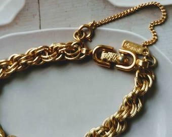 Vintage Monet Gold Chain Bracelet