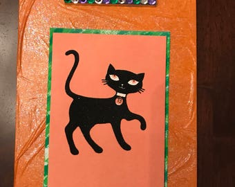 Halloween Cat Wall Decor