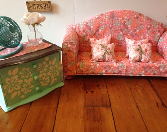 "18"" Doll furniture, sofa living room set"