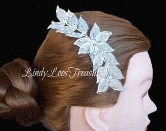 Silver Leaf Rhinestone Hair Comb, Silver Bridal Hair Comb, Rhinestone, Bridal Hair Comb, Wedding Hair Comb, Hair Comb