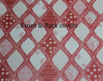 Custom Planner Cover, Happy planner cover, ARC cover, Discbound,Spring, Valentines, Strawberry Kisses: pink & cream
