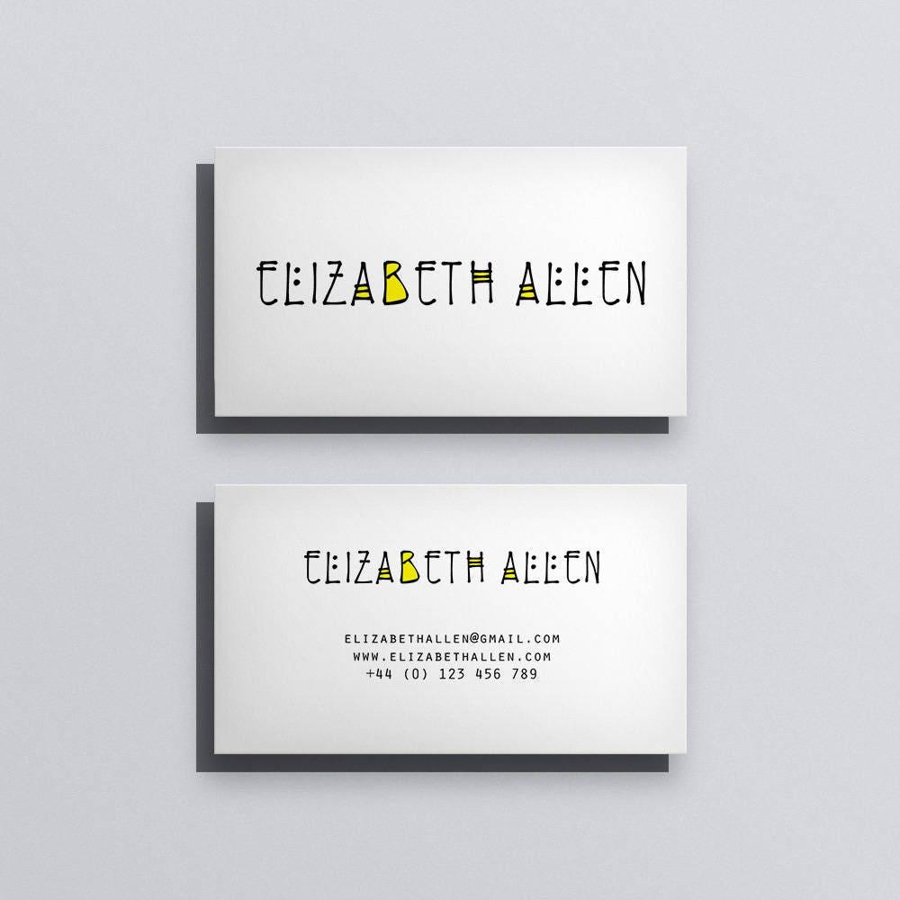 Printable business card template printable business card design printable business card template printable business card design custom business card minimal typographic wajeb Choice Image
