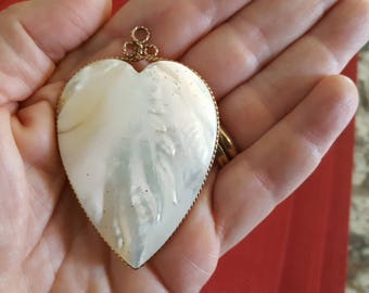 Beautiful Mother of Pearl Heart Pendant