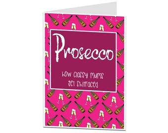 Mum Card. Birthday Card Mum. Happy Birthday Mum. Mum Birthday Card. Mum Joke Card. Funny Birthday Card For Mum. Prosecco Mum Card