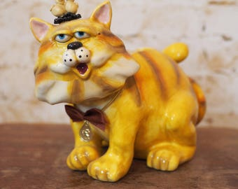 Ginger Cat Porcelain Money box