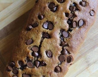 Chocolate Chip Pumpkin Protein Bread- Vegan, Vegetarian, Gluten Free, Sugar Free, Paleo, Clean Eating, Fall, Autumn